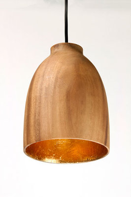 Hanglamp Hout Acacia Fifty Naturel/Goudblad