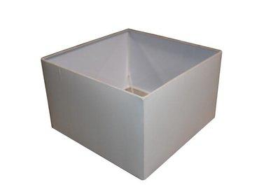 Lampenkap Vierkant Wit 45x45x30Cm HSM
