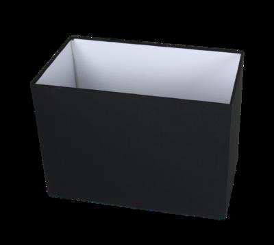 Lampenkap Rechthoek Zwart 35x20x25Cm HSM
