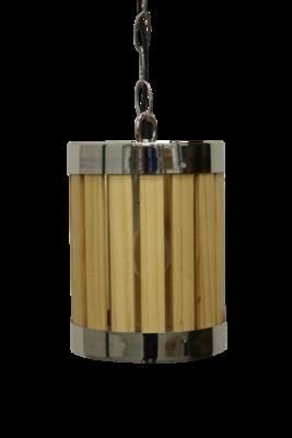 Hanglamp Hout Barrel 20Cm HSM