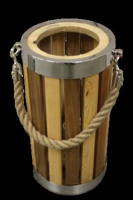 Staande Lamp Hout Barrel 30Cm HSM
