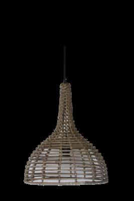 Hanglamp Hout Koboo Flesvorm 52Cm HSM
