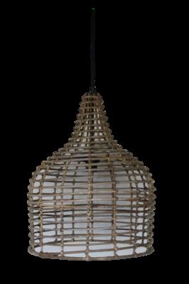 Hanglamp Hout Koboo Flesvorm 54Cm HSM