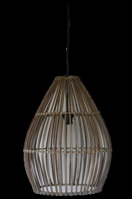 Hanglamp Hout Koboo Ovaal 51Cm HSM