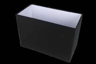 Lampenkap Rechthoek Zwart 50x25x35Cm HSM