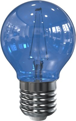 LED Filament kleine bol E27 2W Blauw (G45)