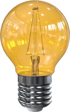 LED Filament kleine bol E27 2W Geel (G45)