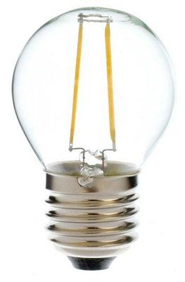 LED Filament kleine bol E27 2W Warm Wit (G45)