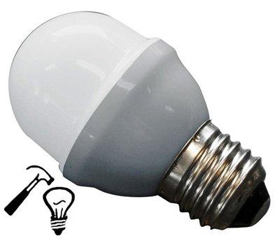 LED Lamp Deco Kleine Bol 1W G45 Wit Extra Sterk
