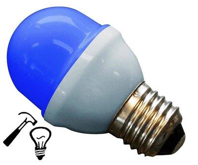 LED Lamp Deco Kleine Bol 1W G45 Blauw Extra Sterk