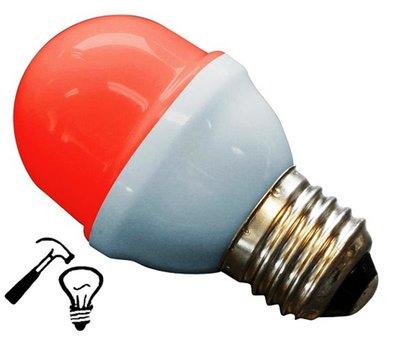 LED Lamp Deco Kleine Bol 1W G45 Rood Extra Sterk