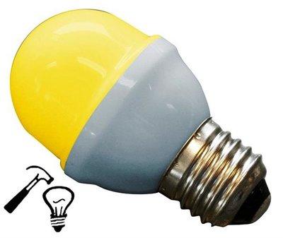 LED Lamp Deco Kleine Bol 1W G45 Geel Extra Sterk