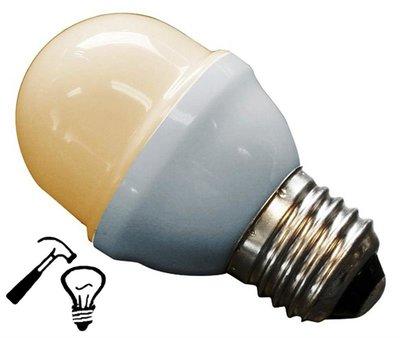LED Lamp Deco Kleine Bol 1W G45 Warm Wit Extra Sterk