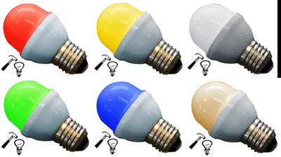 Voordeelset: 10x Gekleurde Lamp Extra Sterk E27 Set van 5 Kleuren
