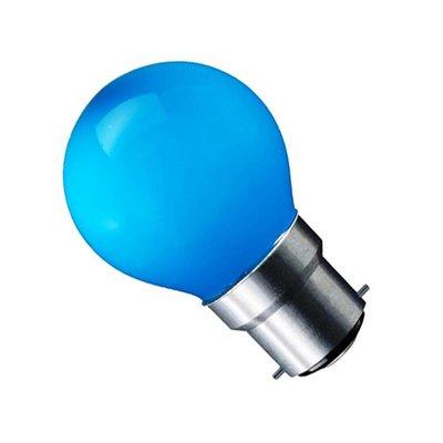 LED Filament kleine bol B22 (bajonet) 1W Blauw