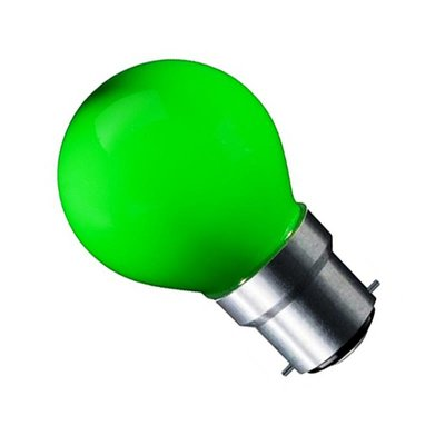 LED Filament kleine bol B22 (bajonet) 1W Groen
