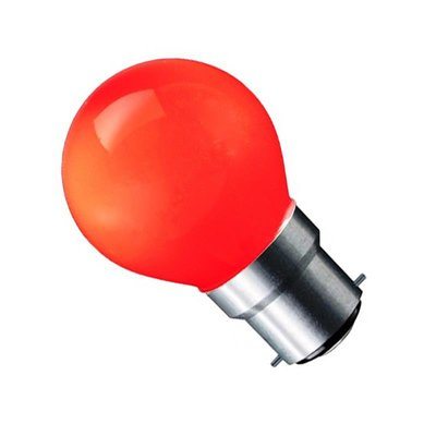 LED Filament kleine bol B22 (bajonet) 1W Rood