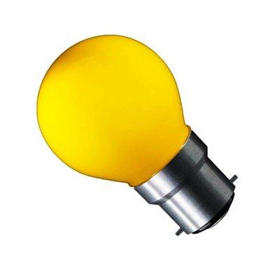 LED Filament kleine bol B22 (bajonet) 1W Geel