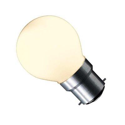 LED Filament kleine bol B22 (bajonet) 1W Mat Warm Wit