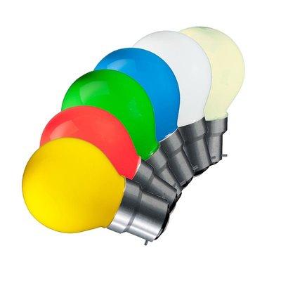 Voordeelset: 10x LED Filament kleine bol B22 Set van 5 Kleuren