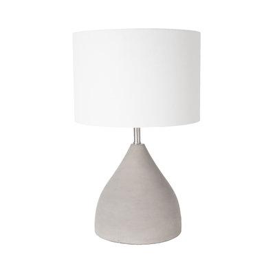 Tafellamp Hamden Beton | Witte Lampenkap