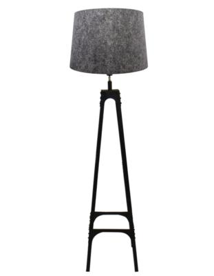 Vloerlamp Gladiator Klinknagels 163Cm | Grijze Conische Kap