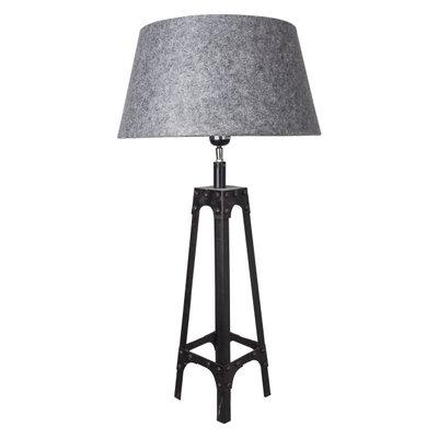 Tafellamp Gladiator Klinknagels 68Cm | Grijze Luxe Conische Kap