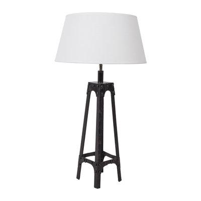 Tafellamp Gladiator Klinknagels 68Cm | Witte Conische Kap