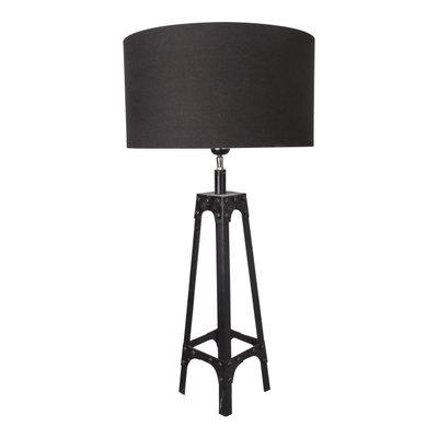 Tafellamp Gladiator Klinknagels 68Cm | Grijze Kap