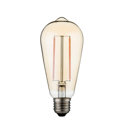 Dimbare led lamp E27 2W 2200K GOLD (ST64)