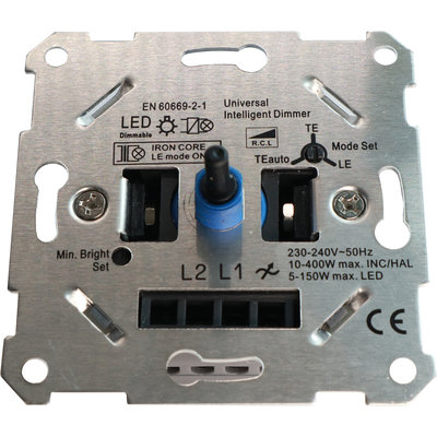 Universele LED Dimmer 0-150 Watt | Afsnijding / Aansnijding (Instelbaar)