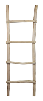 Decoratieve Ladder - Teak 150cm | Old Skool