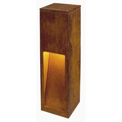 Staande lamp RUSTY SLOT 50 geroest staal 1xE27