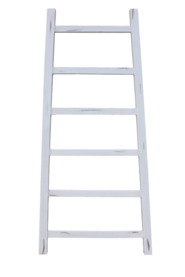 Decoratieve Ladder Tangga - Teak 150cm | Wit
