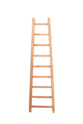 Decoratieve Ladder Tangga - Teak 195cm | Antiek