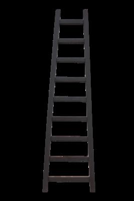 Decoratieve Ladder Tangga - Teak 195cm | Grijs