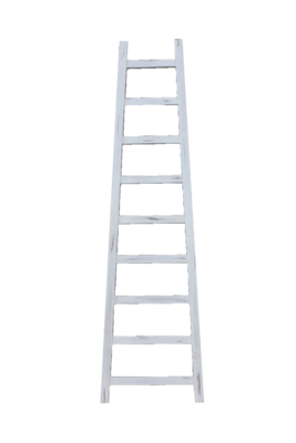 Decoratieve Ladder Tangga - Teak 195cm | Wit