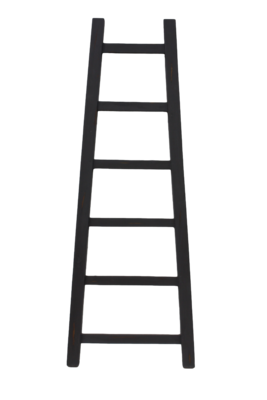 Decoratieve Ladder Tangga - Teak 150cm | Grijs
