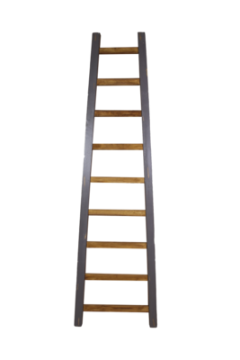 Decoratieve Ladder - Teak 150cm | Naturel/Grijs