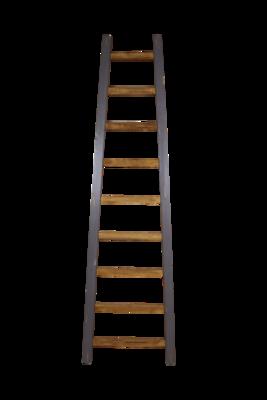 Decoratieve Ladder Tangga - Teak 195cm | Naturel/Grijs