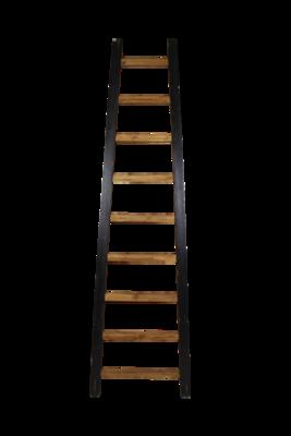 Decoratieve Ladder Tangga - Teak 195cm | Naturel/Zwart