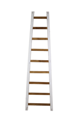 Decoratieve Ladder Tangga - Teak 195cm | Naturel/Wit