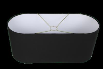 Lampenkap Ovaal Zwart Groot 60x25x25 HSM