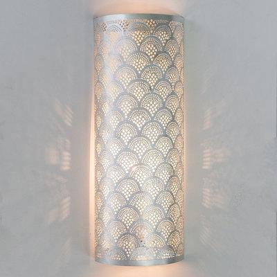 Wandlamp Cylinder Fan Large Silver