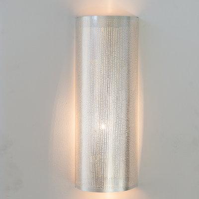 Wandlamp Cylinder Filisky Large Silver