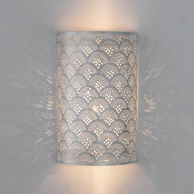 Wandlamp Cylinder Fan Silver