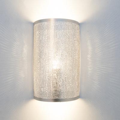 Wandlamp Cylinder Filisky Silver