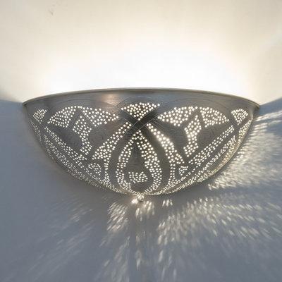 Wandlamp Ball Filigrain Silver