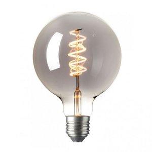 LED Kooldraadlamp Globe XL Curl Titanium  Ø125mm E27 4W   Dimbare LED Lamp
