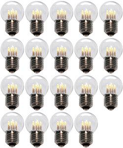 19 stuks LED Lamp E27 1W G45 Warm-wit 2700K - speciaal voor prikkabel bulk